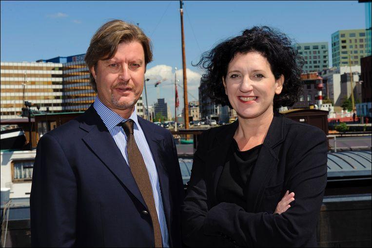 Juni 2012: Eddy Baelemans stapt in de politiek op de lijst van Annemie Turtelboom van Open VLD.  Beeld Photo News