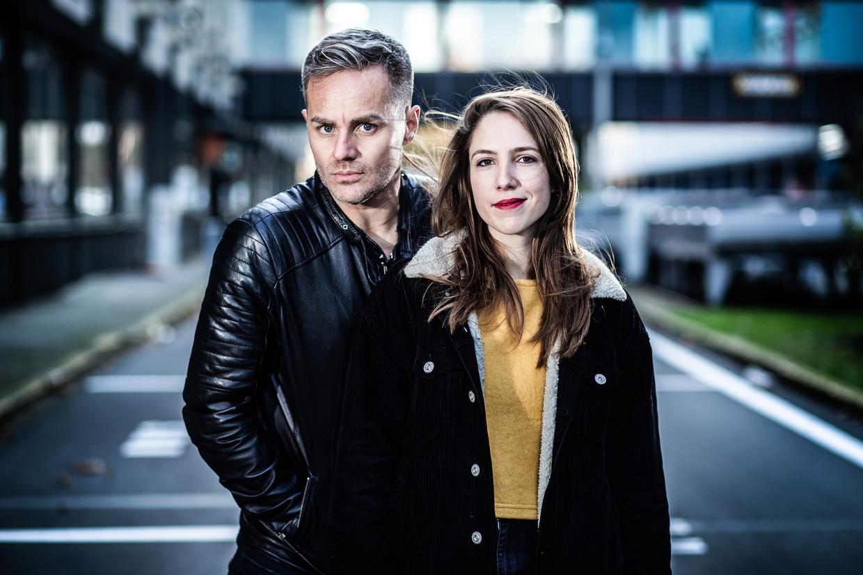 'Slimste Mens'-finalisten Peter Van de Veire en Michèle Cuvelier. Beeld Bob Van Mol