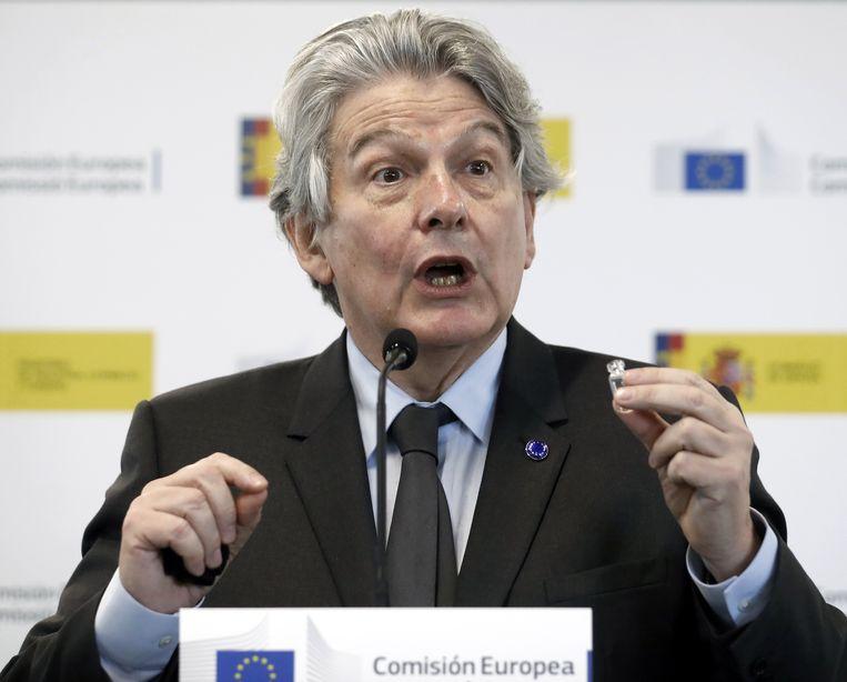 Eurocommissaris Thierry Breton.  Beeld EPA