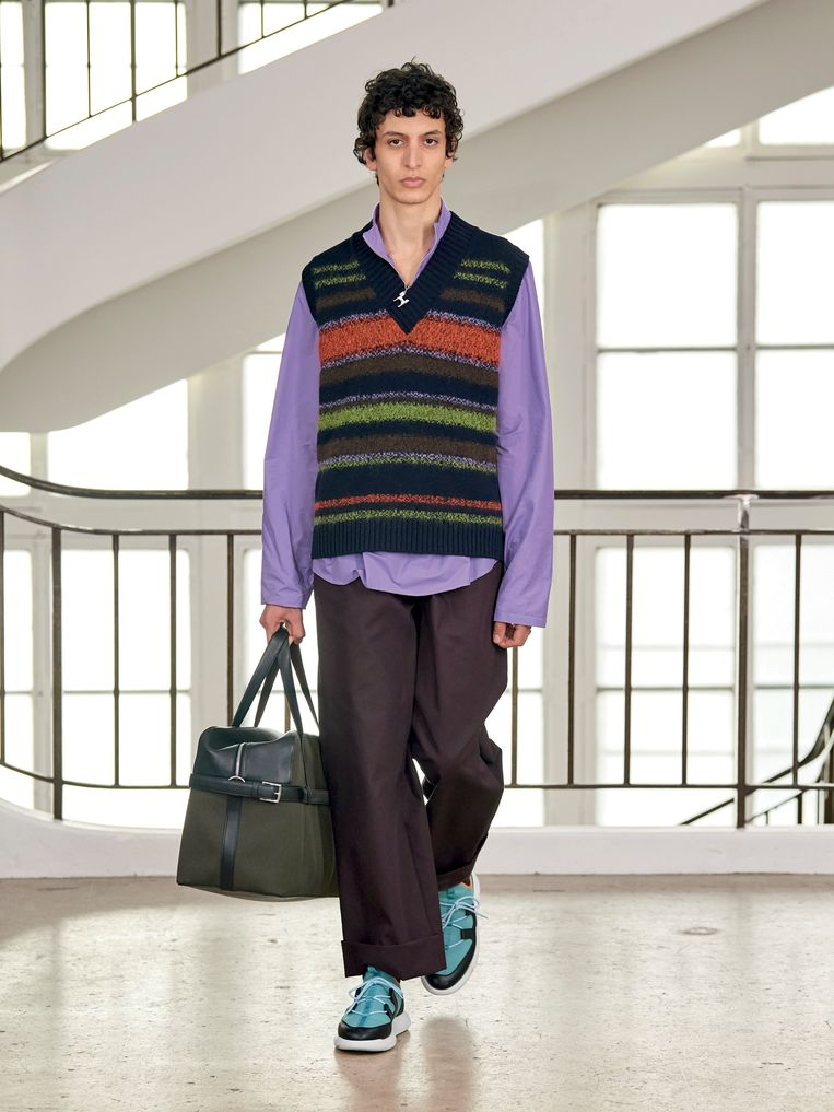 Hermès, herfst/winter 2021/2022. Beeld Imaxtree