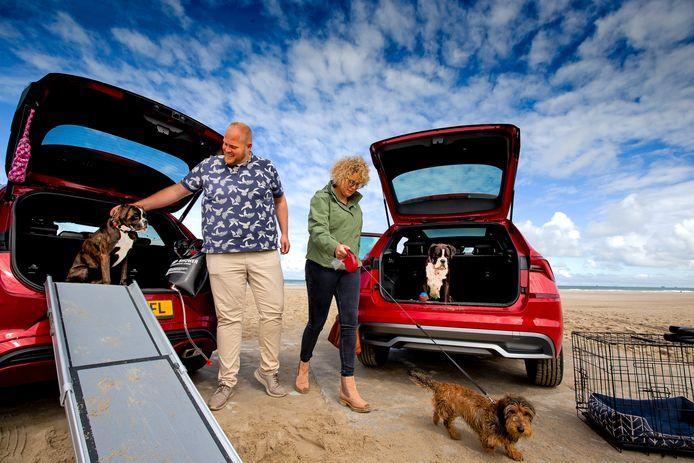 Onze autoredactie ging naar het strand met de boxers Roxy en Skye, teckel Joep én de Ford Puma en Skoda Kamiq.