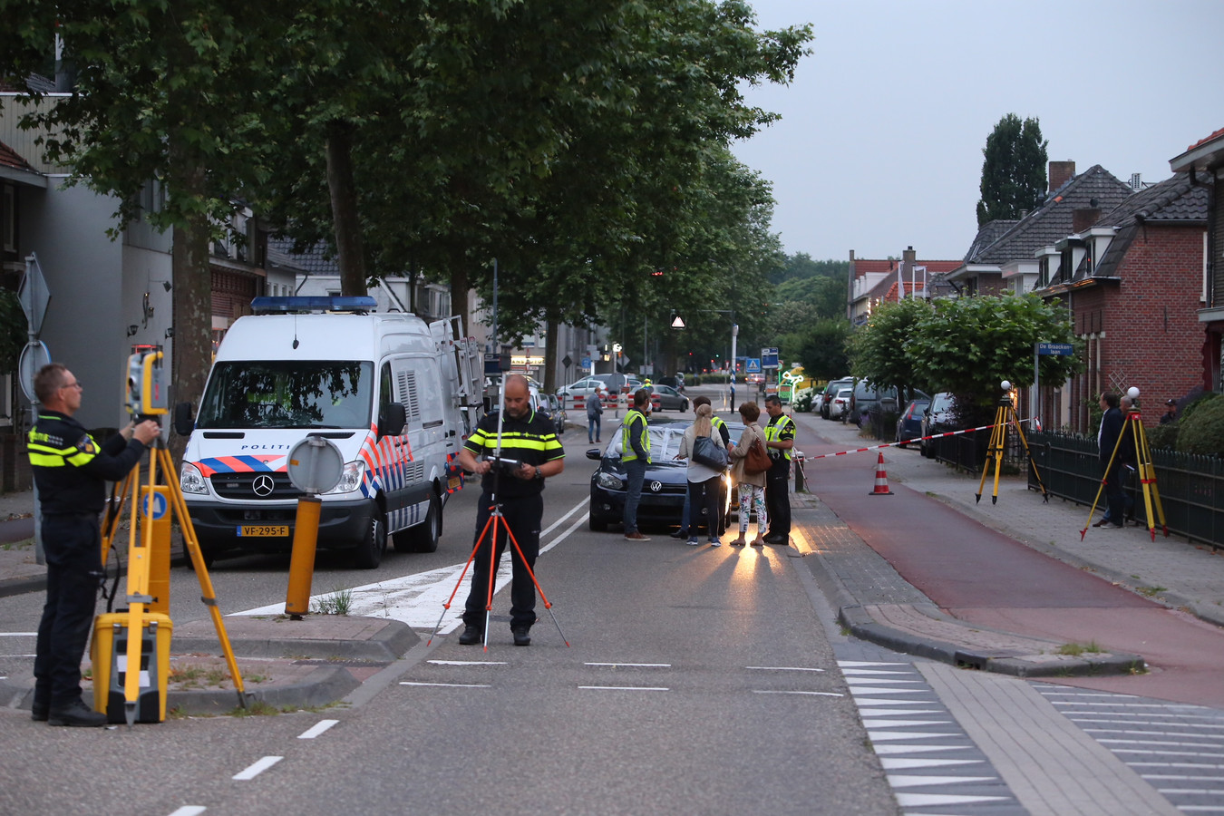 Reconstructie van het dodelijk ongeval op de Helvoirtseweg in Vught.