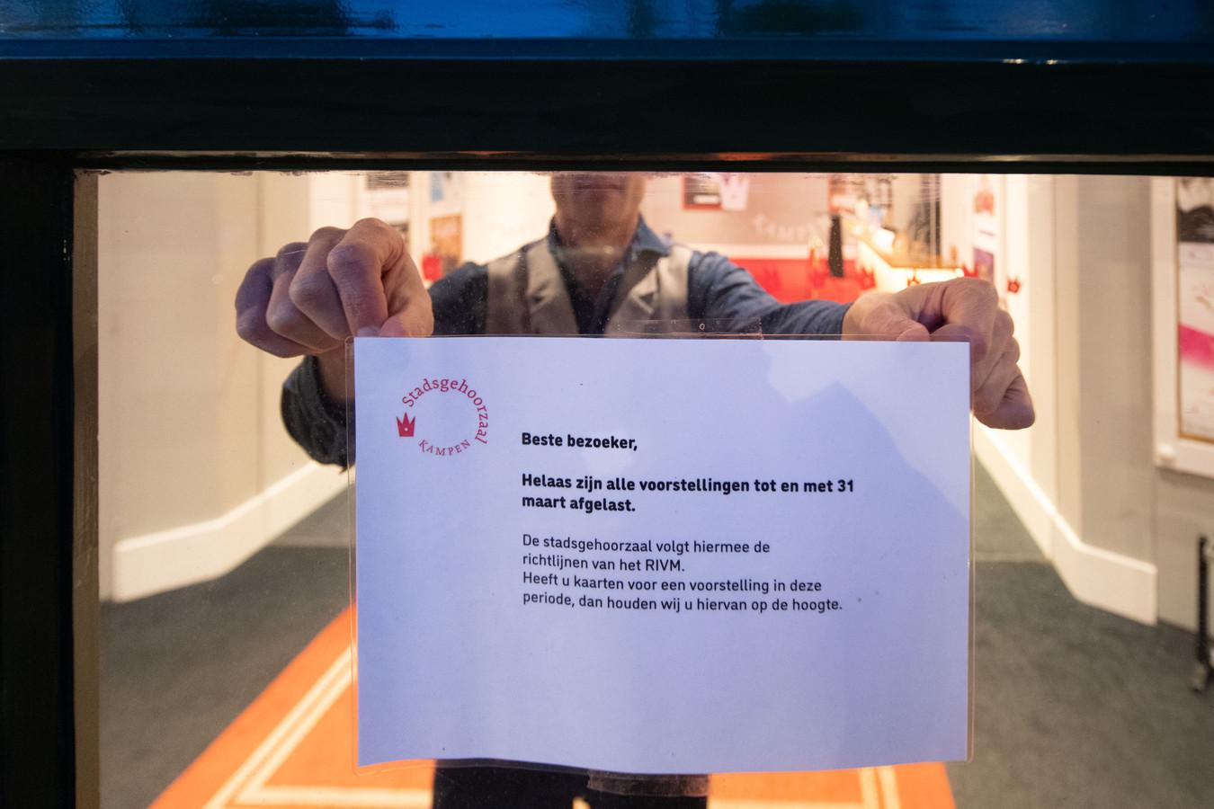 Culturele instellingen in Kampen kunnen even bijkomen van de coronaschade.