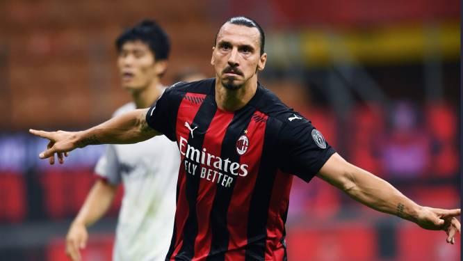 """Zlatan (38) na zijn dubbel in Serie A-opener AC Milan: """"Als ik 20 was geweest, had ik 4 keer gescoord"""""""