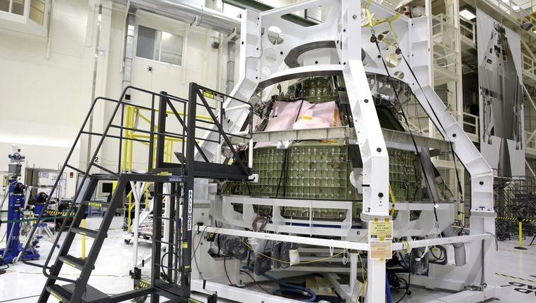 De Orioncapsule in het Kennedy- spacestation. Beeld ap