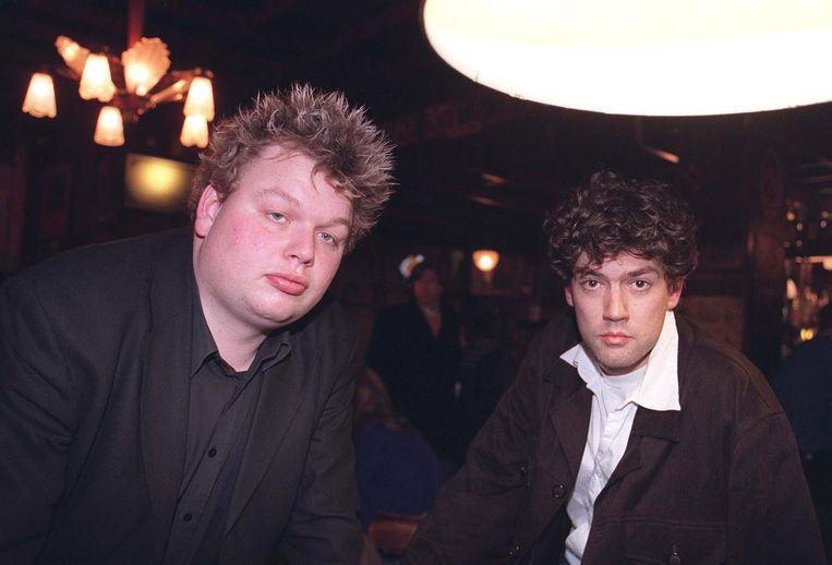 Erik van Bruggen (links) en Lennart Booij in 1998, in de hoogtijdagen van Niet Nix.  Beeld ANP
