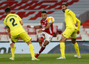 Aubameyang kreeg de beste mogelijkheden bij Arsenal.