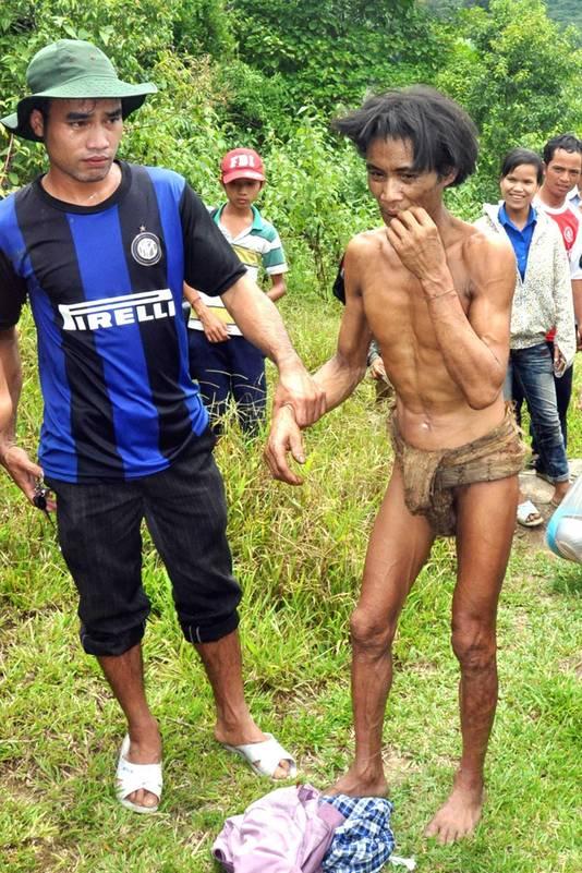 Beeld uit 2013, toen Van Lang uit de jungle werd gehaald door de autoriteiten