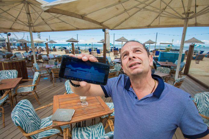 Marco Seitz, eigenaar van strandtent Werelds op Scheveningen.