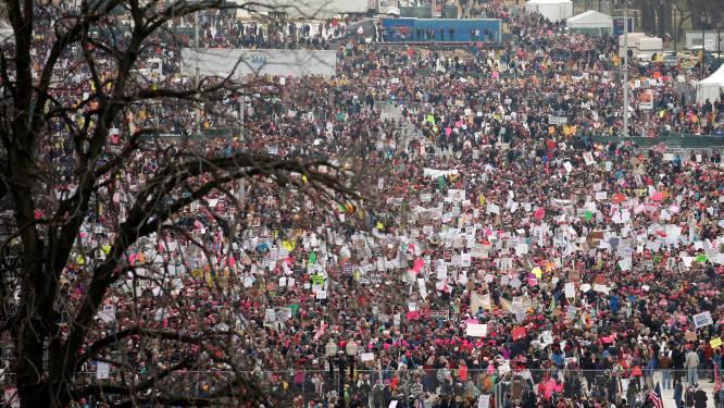 Meer volk op protestmars tegen Trump dan op zijn eigen inauguratie