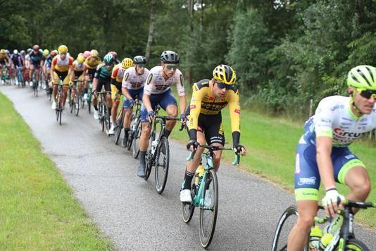 Martijn Budding (derde) tijdens het NK wielrennen dit jaar.