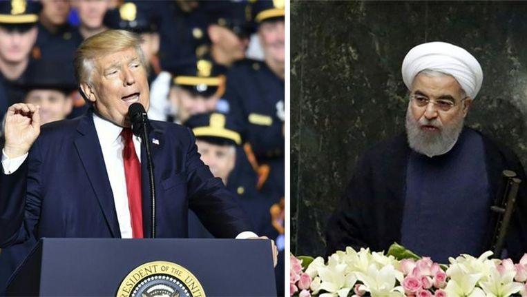 De Amerikaanse president Donald Trump heeft de Iraanse president Rohani boos gemaakt. Beeld epa