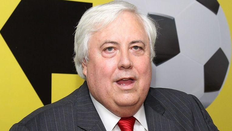 De Australische miljardair Clive Palmer. Beeld afp