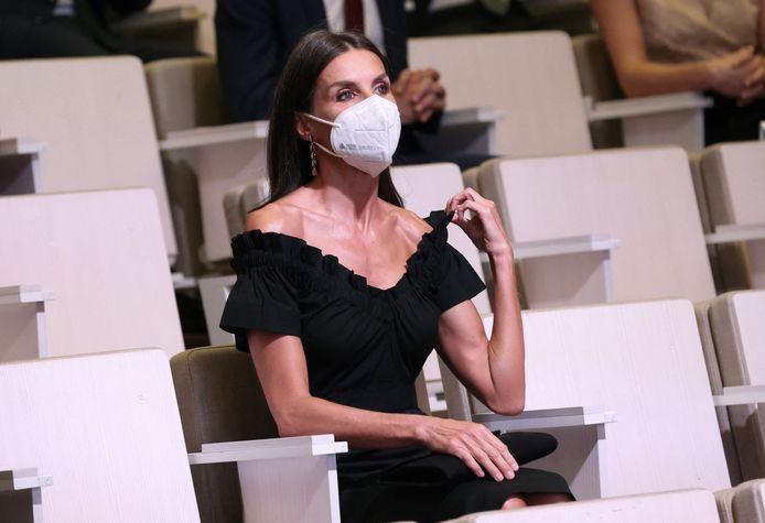 La reine Letizia d'Espagne à la cérémonie des Retina Eco Awards.