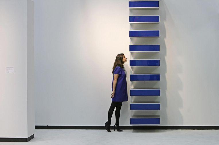 Werk van Donald Judd zonder titel. Arad: 'Hij doorbrak de scheidslijn tussen kunst en design.' Beeld Leon Neal/AFP/Getty