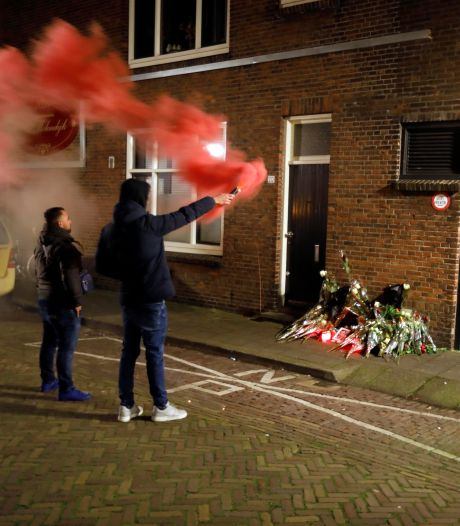 Vrienden en bekenden herdenken doodgeschoten Appie (26) met fakkels en bloemen tijdens stille tocht