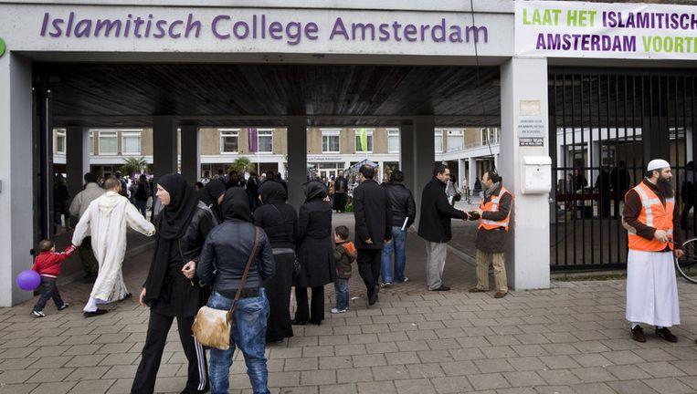 Het bestuur heeft maandagavond tijdens een bestuursvergadering besloten dat het Islamitisch College Amsterdam dicht gaat. Foto ANP Beeld
