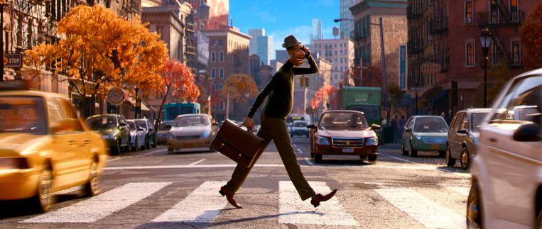 Muziekleraar Joe Gardner, de hoofdpersoon van de Pixar-film Soul. Beeld AP