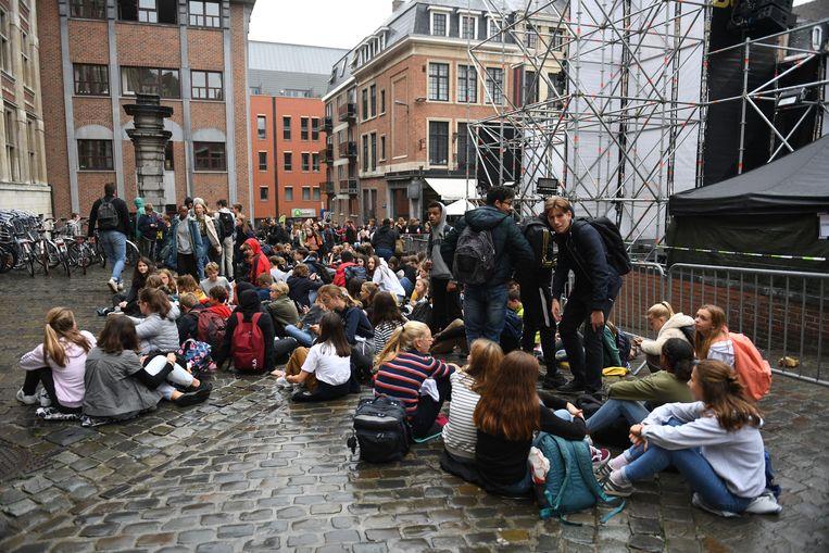 Al drie dagen op rij wordt er geprotesteerd tegen de geplande fusie tussen drie Leuvense katholieke scholen.