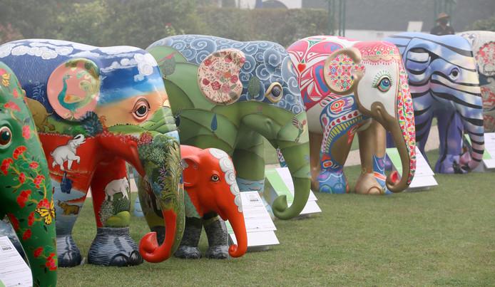 De Elephant Parade in New Delhi India.