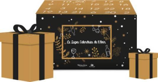 Le super calendrier de l'Avin - 149,99 euros. En précommande sur www.wineandbox.com. Le coffret comprend 12 demi bouteilles de vin issues principalement de petits producteurs récoltants, ainsi que