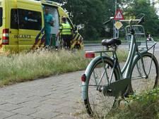 Brandweer bevrijdt meisje (6) dat met voet klem zit in fietswiel