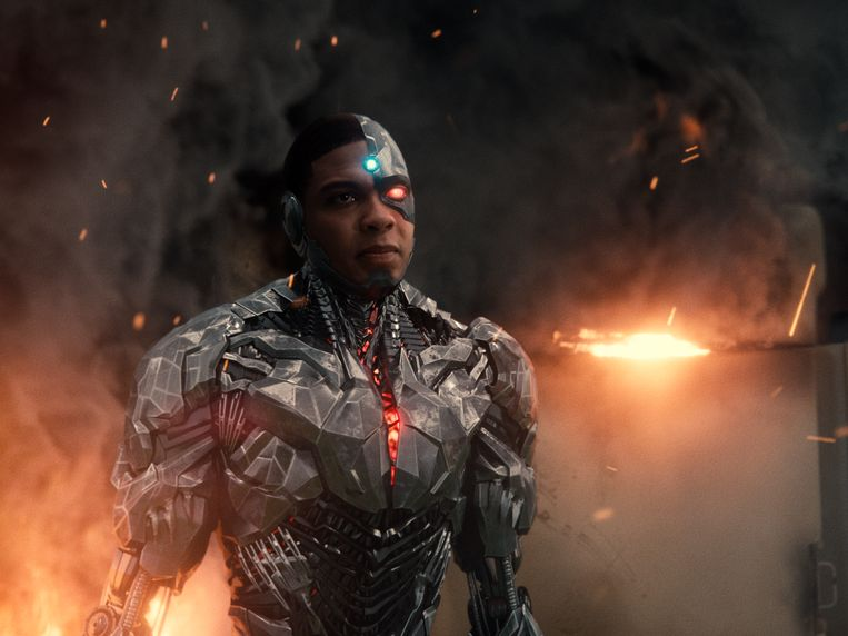 Ray Fisher als Cyborg, in Zack Snyder's Justice League.  Beeld AP