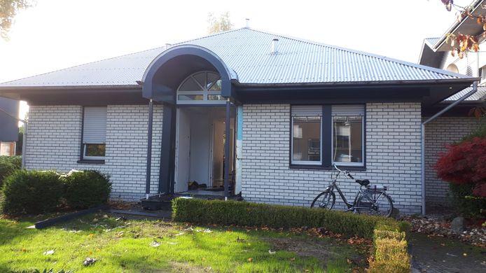 De woning in Gronau waar Abas M. maandag werd opgepakt.