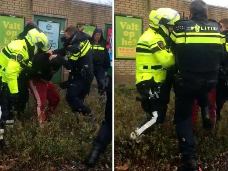 Hardhandige aanhouding in Almere-Stad