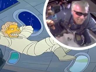 'The Simpsons' slaan weer toe: voorspelden ze nu ook al eerste ruimtevlucht van Richard Branson?