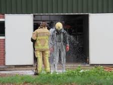 Vies klusje: brandweer redt kalveren uit gierkelder in Enter