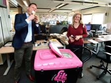 'Wie wil er nog een ijsje?' Lieke bedankt de collega's van haar lockdownbaan