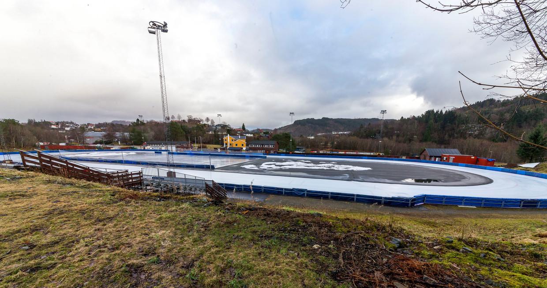 De Slatthaug Kunstisbane in Bergen. Beeld Reidar Langkjaer