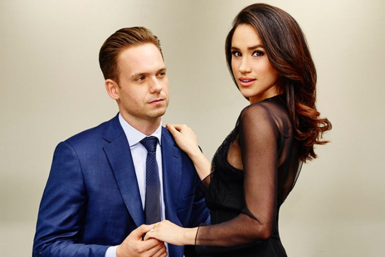 Meghan Markle en Patrick Adams in 'Suits'