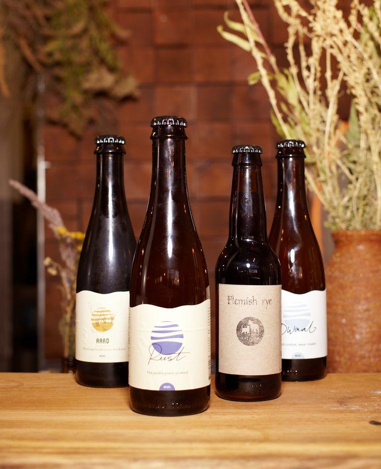 De bieren van brouwerij Nevel. Beeld Daniel Cohen