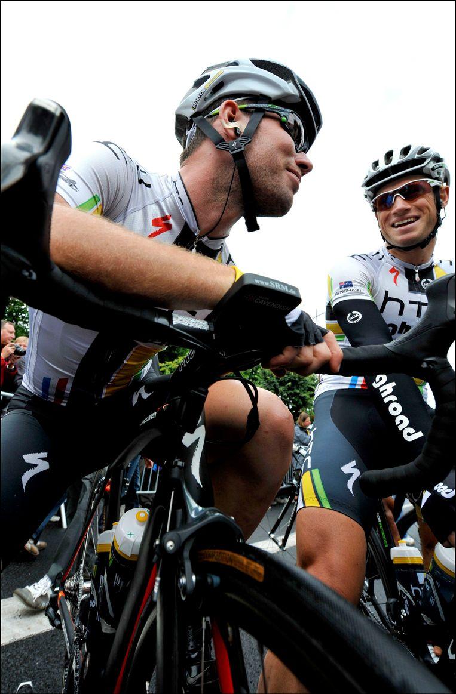 Mark Renshaw (rechts) met Mark Cavendish. Beeld PHOTO_NEWS