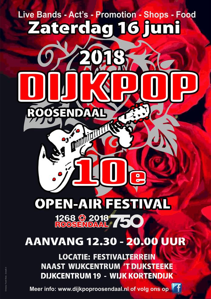 Tiende editie Dijkpop in Roosendaal