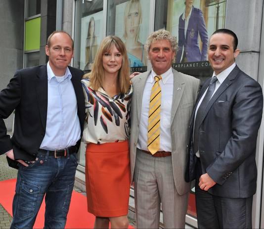 Willemijn Van Dommelen en de familie Pfaff, voor wie ze destijds onder andere het management deed.