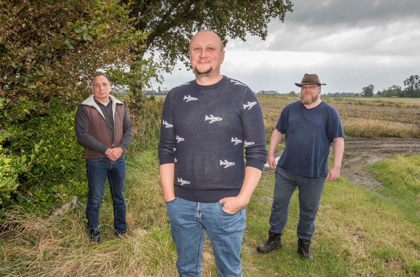 Alexander Gorokhov (midden) met zijn twee goede vrienden Rob van der Vliet (l) en Björn van Hecke.