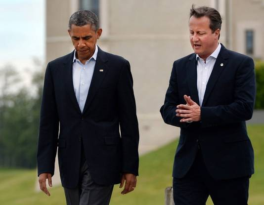 President Barack Obama en premier David Cameron