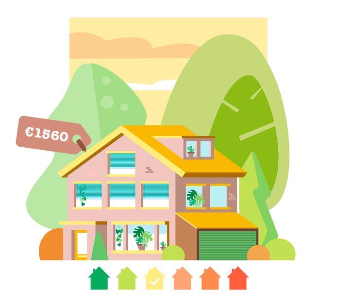 Walters huis is groot en oud, maar wordt steeds duurzamer dankzij investeringen in isolatie en zonnepanelen.