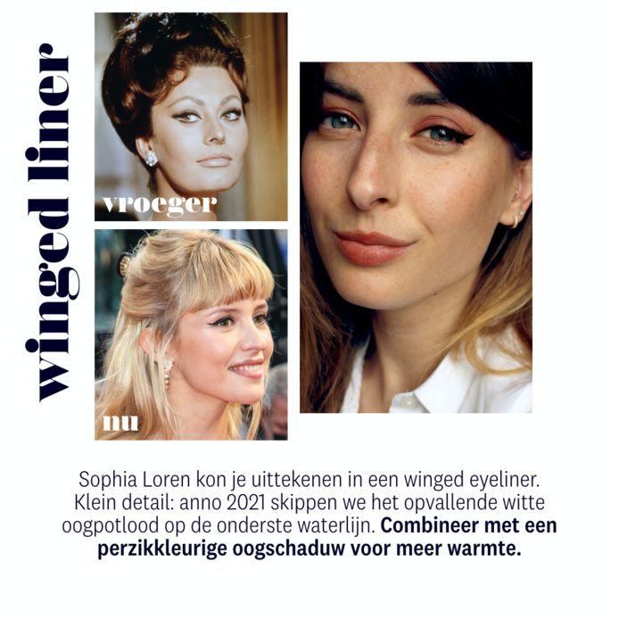 boven: Sophia Loren onder: zangeres Angèle