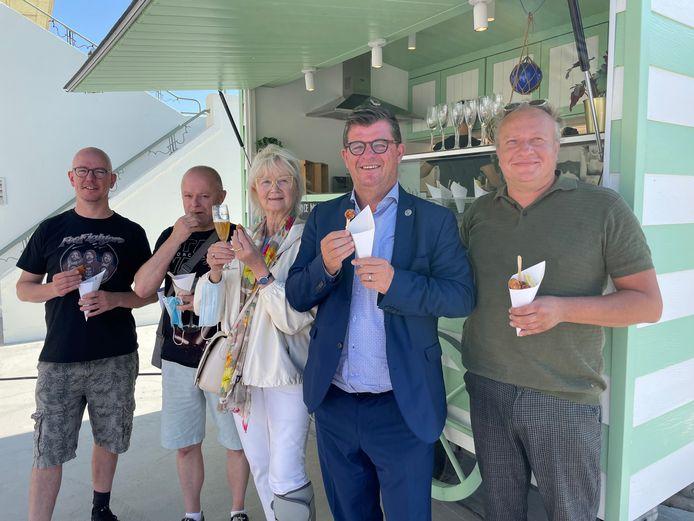Le Bassin, Brassi, Rubens, Eetkaffee Poseidon, Plassendale, Fort Napoleon De Belevingsbrasserie, Botteltje & Toope serveren hun garnaalkroketten op het garnaalkrokettenfestival
