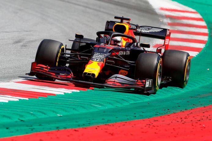 Max Verstappen beëindigde de laatste vrije training voor de Grand Prix van Oostenrijk als derde.