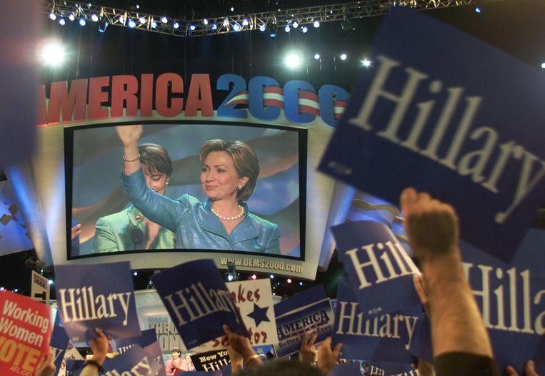 Hillary Clinton komt op voor de Senaat. Beeld getty