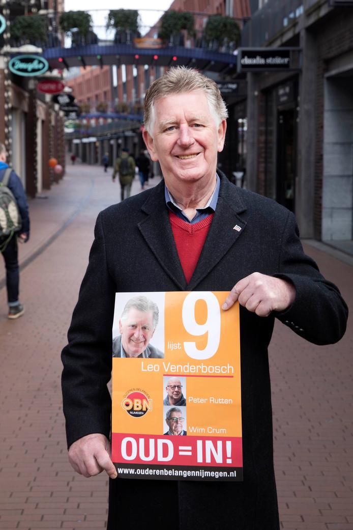 Leo Venderbosch van 'lijst 9' ofwel Ouderen Belangen Nijmegen.