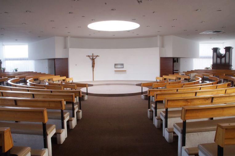 Zo zag de binnenkant van de kerk er uit.