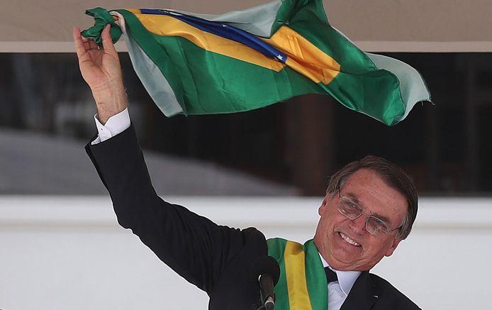 De nieuwe Braziliaanse president Jair Bolsonaro