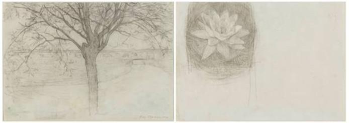 De tekening van Piet Mondriaan uit het jaar 1900