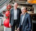 Harry van Raaij (r) samen met huidig algemeen directeur van PSV Toon Gebrands.
